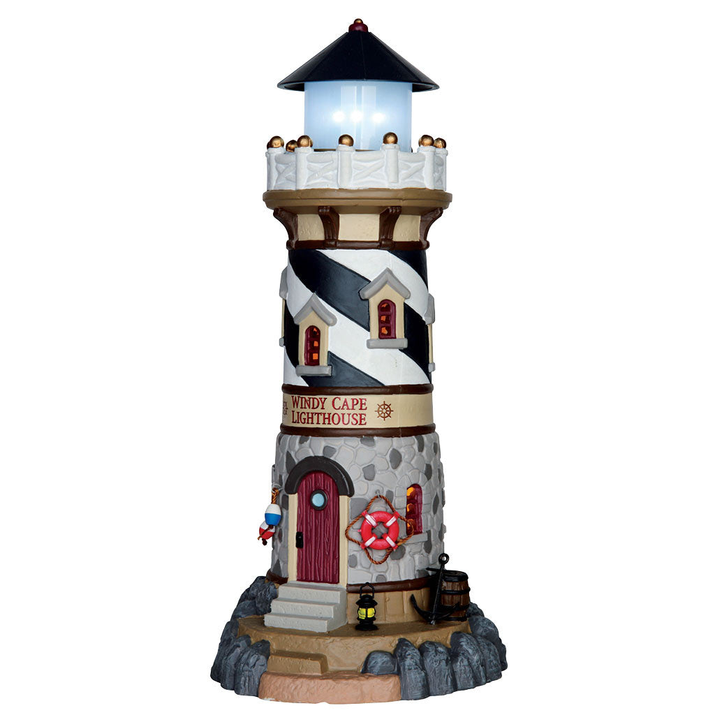 Lemax 65157 Windy Cape Lighthouse, Standard Lighted Building- Gift Spice