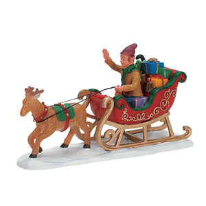 Lemax 72395 Don't forget these, Santa!, Figurine- Gift Spice