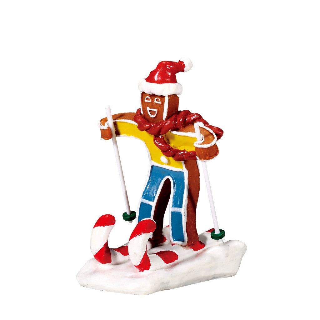 Lemax 72484 Candy Cane Skier, Figurine- Gift Spice