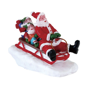 Lemax 72549 Sledding with Santa, Figurine- Gift Spice