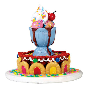Lemax 73292 Sundae Fountain, Table Piece- Gift Spice