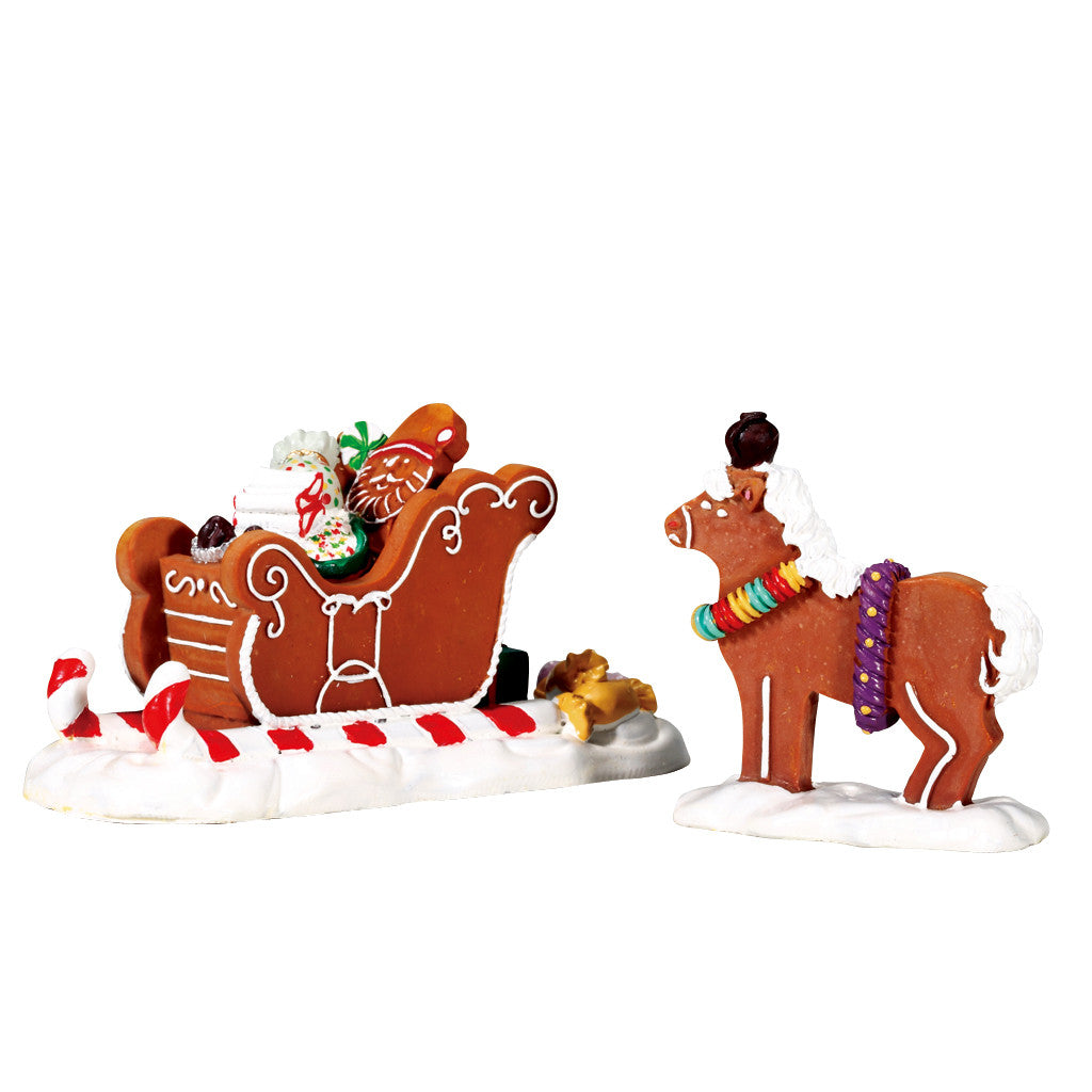 Lemax 73294 Santa's Sleighride, set of 2, Table Piece- Gift Spice