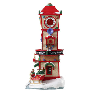 Lemax 73333 Countdown Clock Tower, Table Piece- Gift Spice