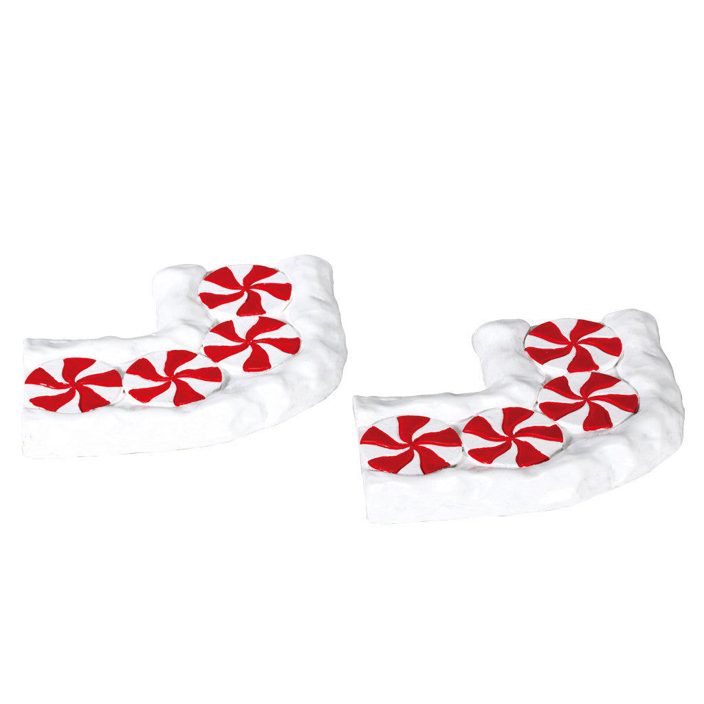 Lemax 74207 Candy Cane Lane, Curved, set of 2, Accessory- Gift Spice