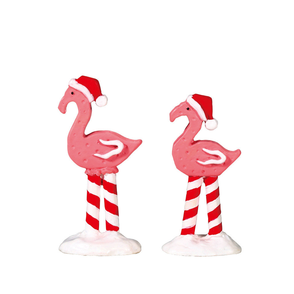 Lemax 74209 Pink Flamingos, Set of 2, Accessory- Gift Spice