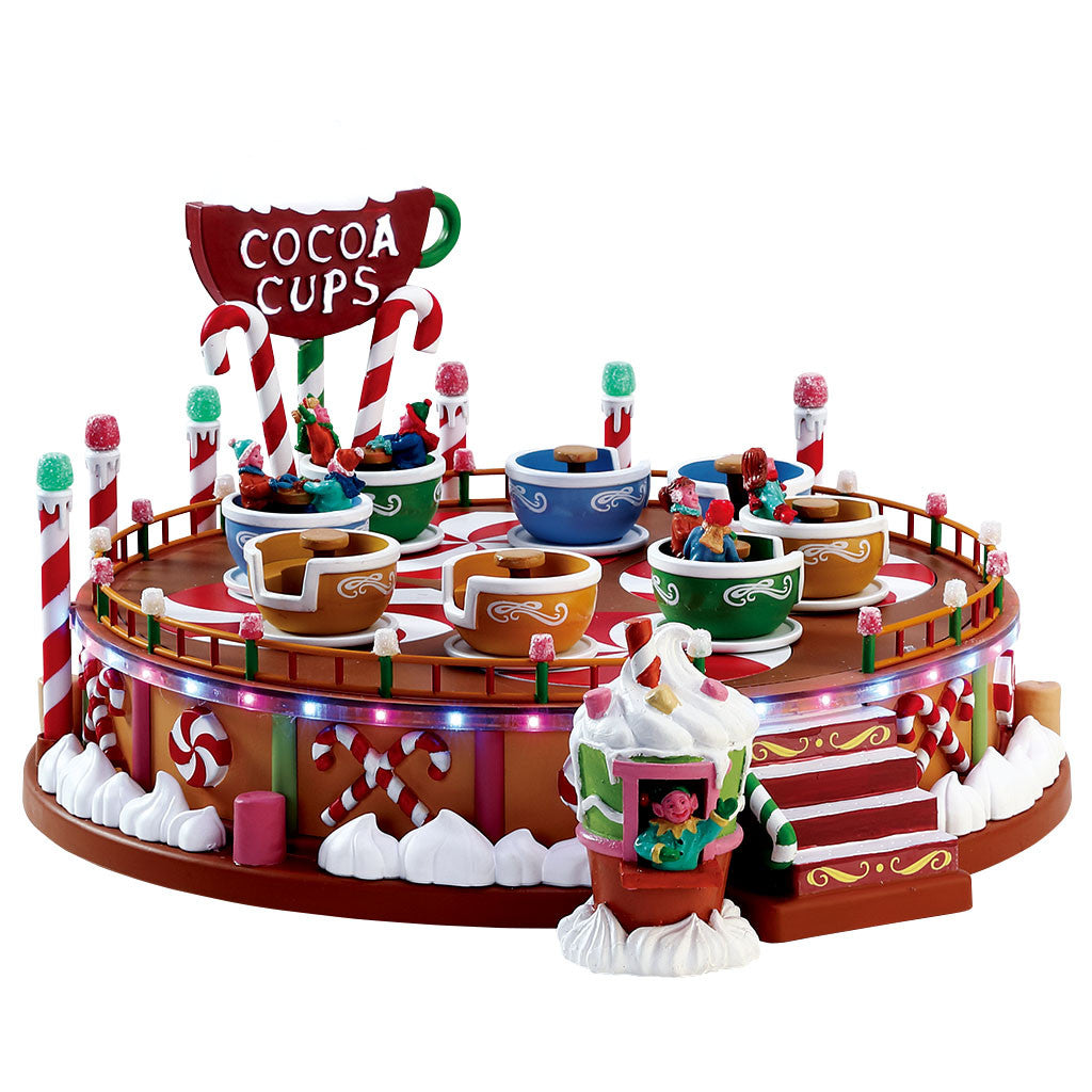 Lemax 74222 Cocoa Cups, Sights and Sound piece- Gift Spice