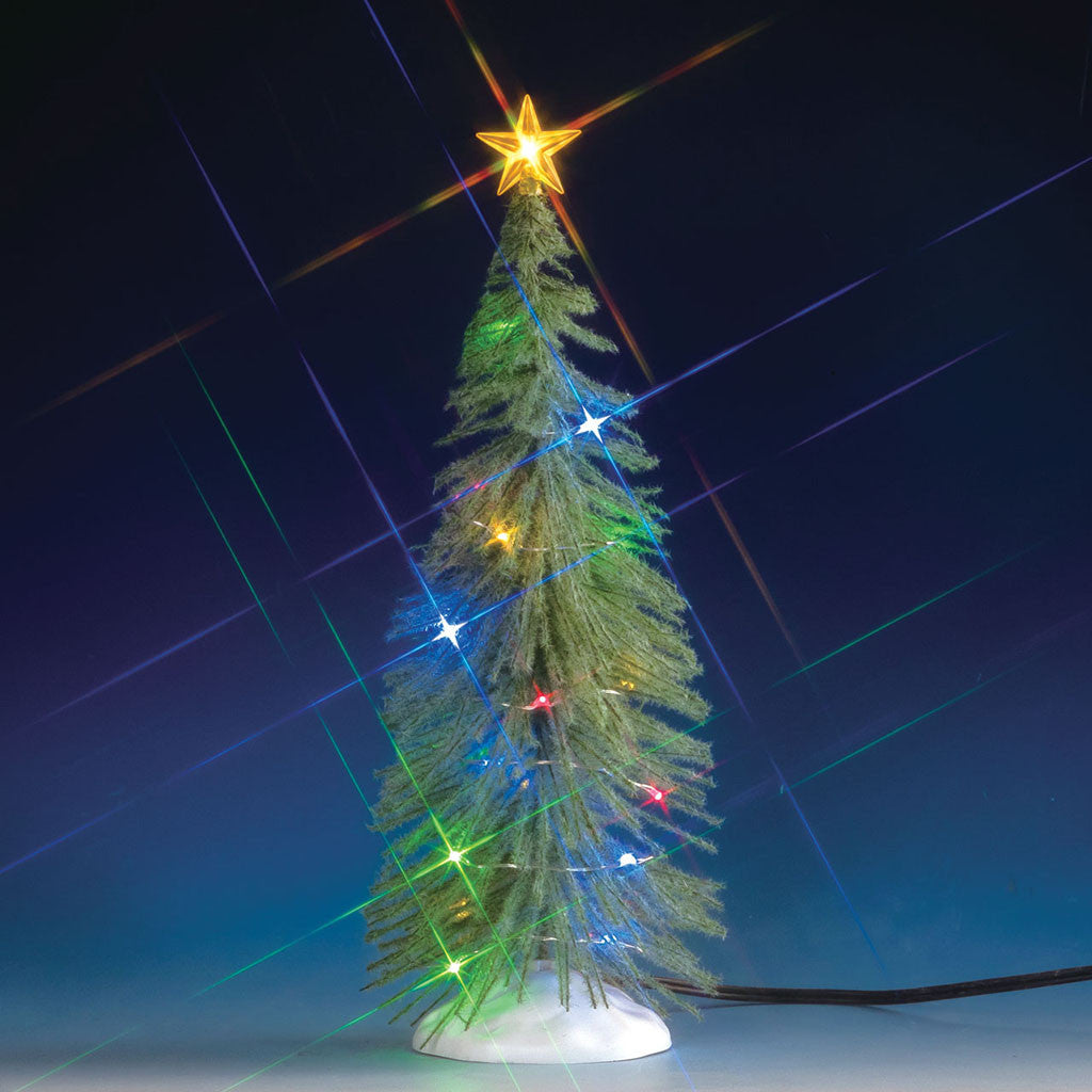 Lemax 74265 Chasing Multi Light Spruce Tree, Tree- Gift Spice