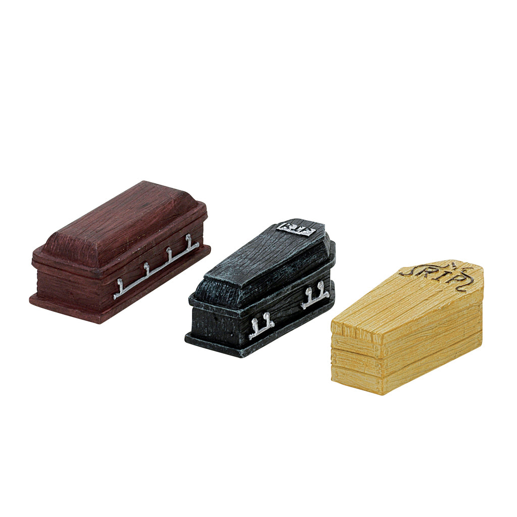 Lemax 74583 Coffins Set Of 3, Accessory- Gift Spice