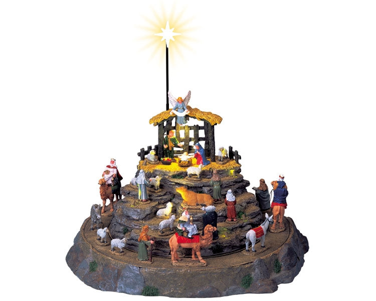 Lemax 74713 Nativity Scene, Set of 25, Sights and Sound piece- Gift Spice