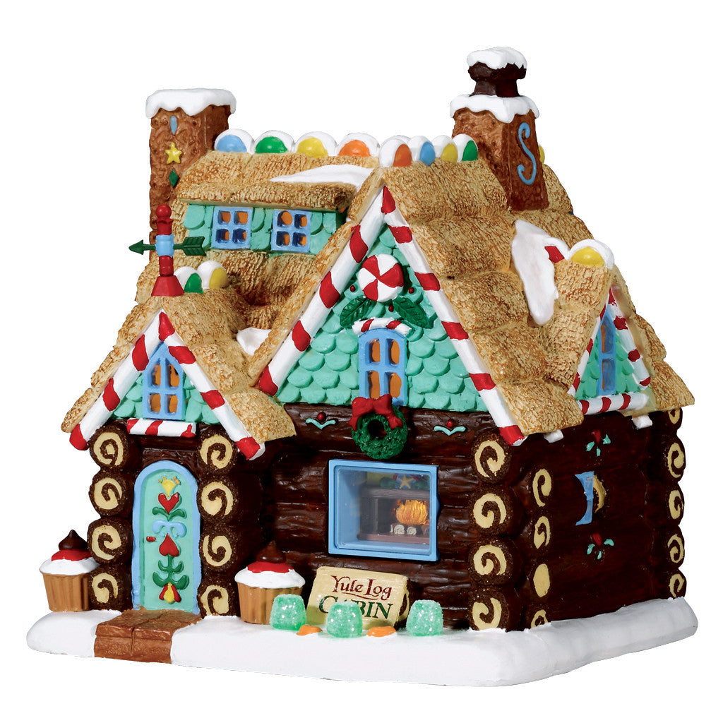 Lemax 75178 Yule Log Cabin, Standard Lighted Building- Gift Spice
