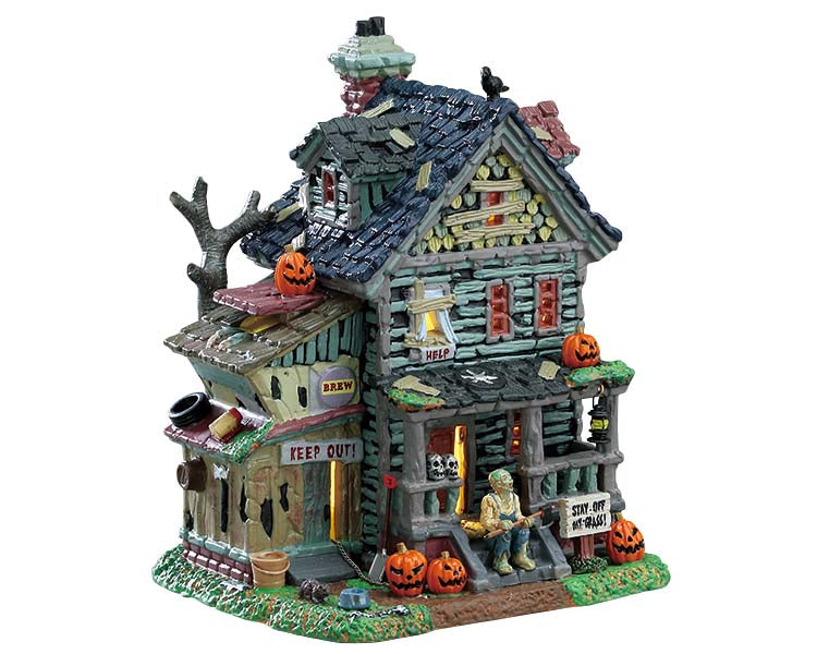 Lemax 75185 Creepy Neighborhood House, Standard Lighted Building- Gift Spice