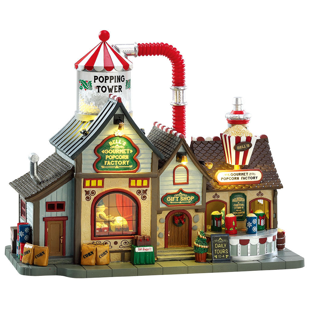 Lemax 75188 Bell's Gourmet Popcorn Factory, Sights and Sound piece- Gift Spice