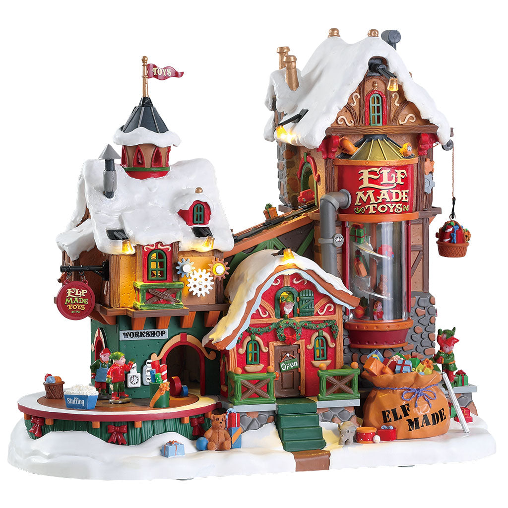 Lemax 75190 Elf Made Toy Factory, Sights and Sound piece- Gift Spice