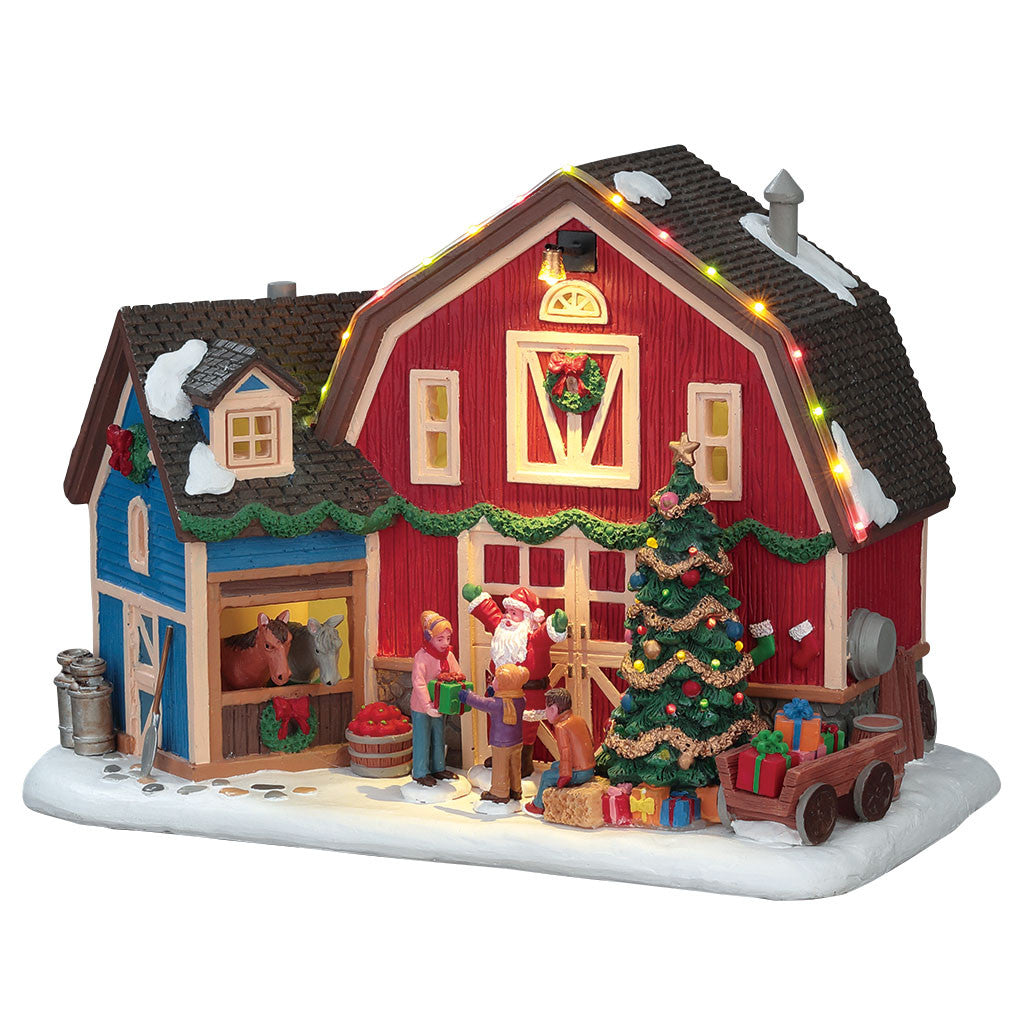 Lemax 75192 Christmas at the Farm, Standard Lighted Building- Gift Spice