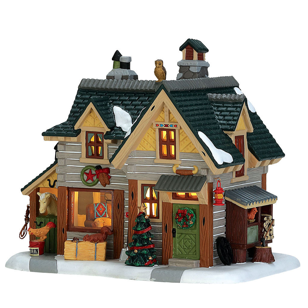 Lemax 75203 A Cowboy Christmas, Standard Lighted Building- Gift Spice
