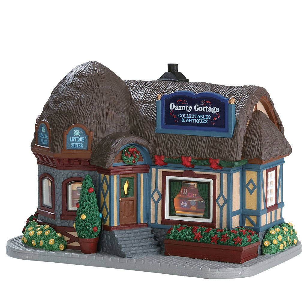 Lemax 75234 Dainty Cottage Collectibles & Antique, Standard Lighted Building- Gift Spice