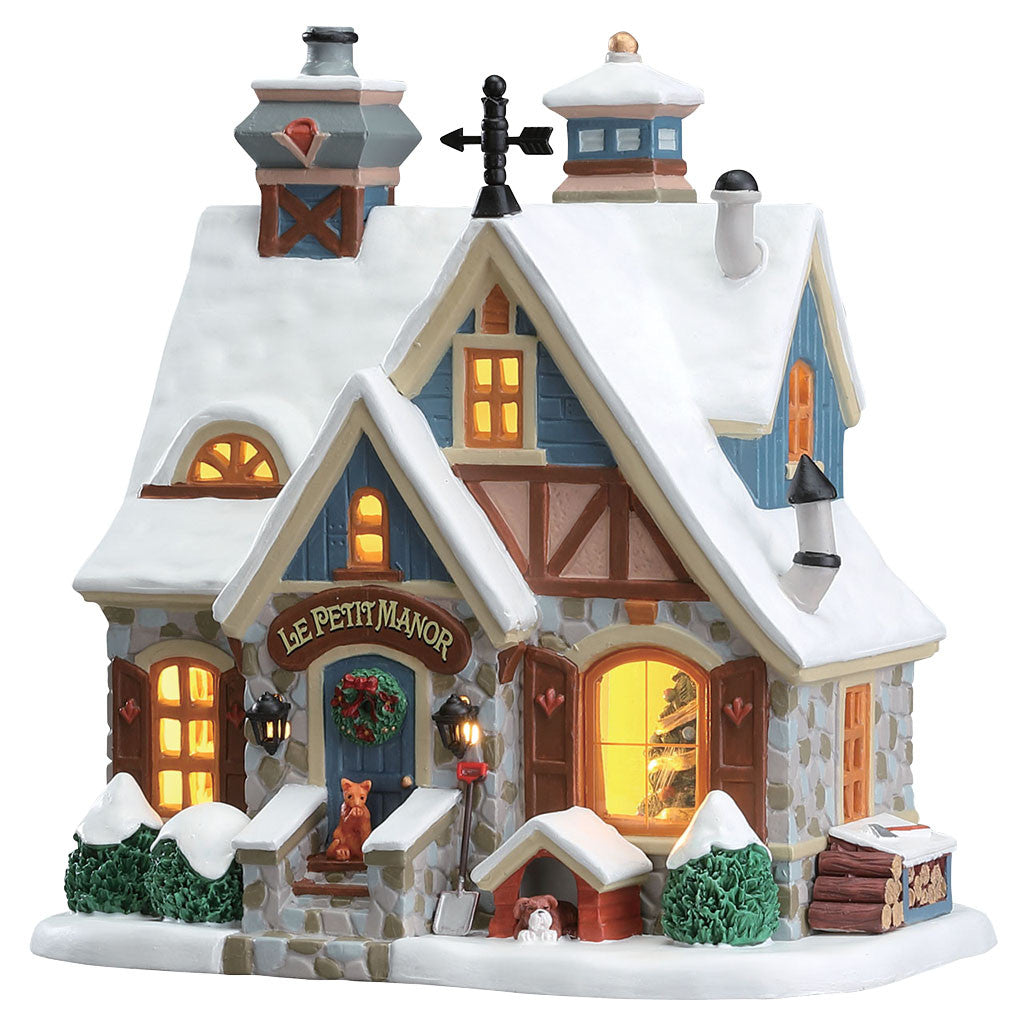 Lemax 75237 Le Petit Manor, Standard Lighted Building- Gift Spice