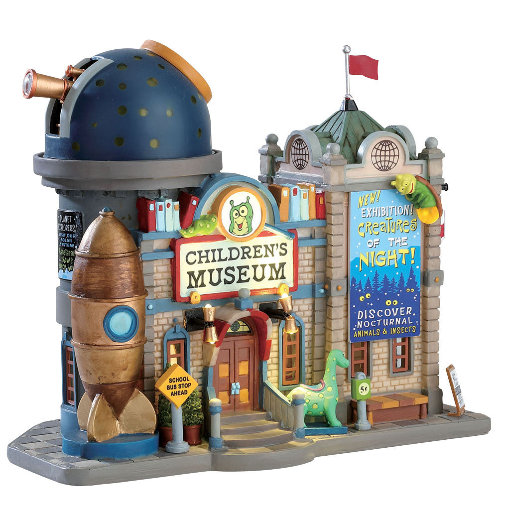 Lemax 75241 Children's Museum, Exterior Lighted House- Gift Spice