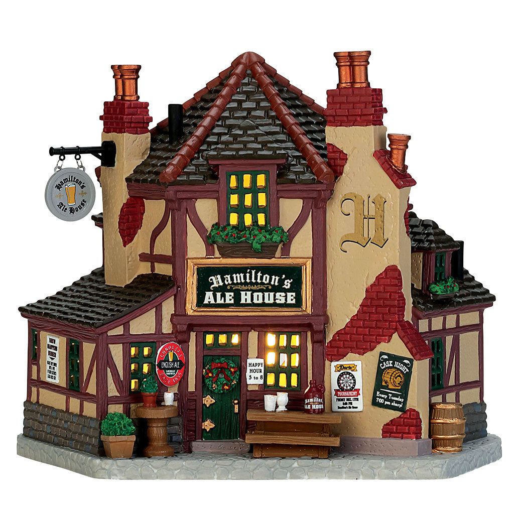 Lemax 75250 Hamilton Ale House, Standard Lighted Building- Gift Spice