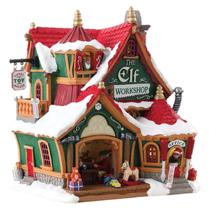 Lemax 75291 The Elf Workshop, Standard Lighted Building- Gift Spice