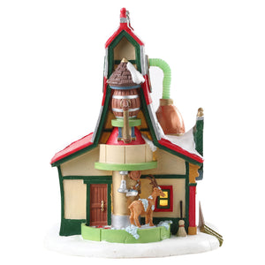 Lemax 75293 Reindeer Grooming Barn, Standard Lighted Building- Gift Spice