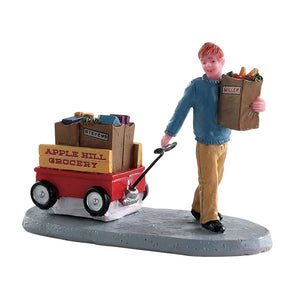 Lemax 82579 Grocery Delivery, Figurine- Gift Spice