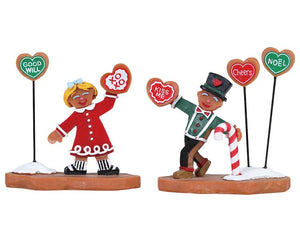 Lemax 82593 Cookie Exchange, Set of 2, Figurine- Gift Spice