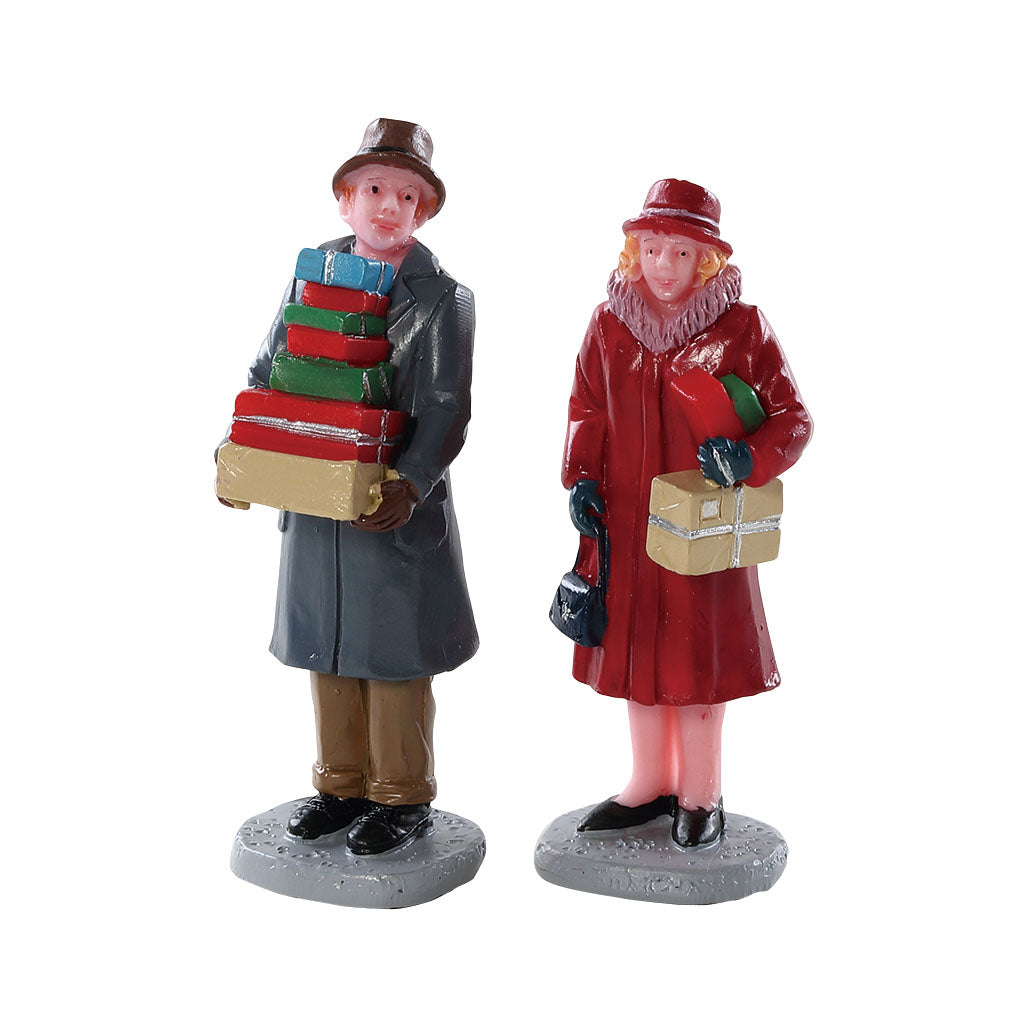 Lemax 82609 Mailing Frenzy Set Of 2, Figurine- Gift Spice