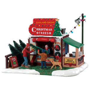 Lemax 83354 Garland Grove Tree Lot, Table Piece- Gift Spice