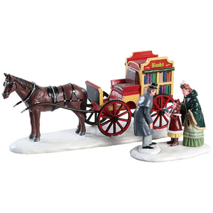 Lemax 83356 Rolling Readers Set Of 2, Table Piece- Gift Spice