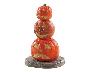 Lemax 84344 Stacked Spooky Pumpkins, Accessory- Gift Spice