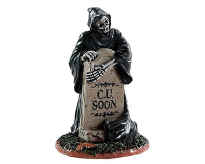 Lemax 84345 Grim Reaper Tombstone, Accessory- Gift Spice