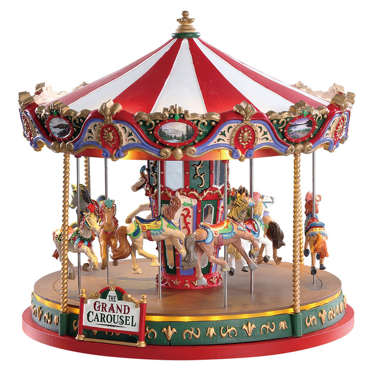Lemax 84349 Grand Carousel, Sights and Sound piece- Gift Spice