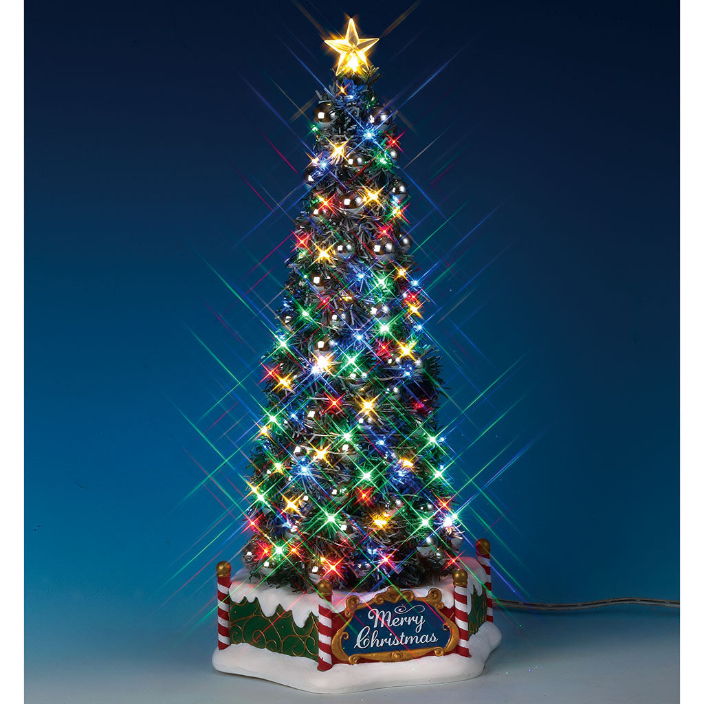 Lemax 84350 New Majestic Christmas Tree, Sights and Sound piece- Gift Spice