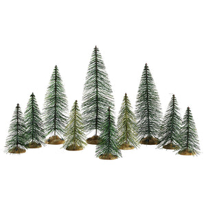 Lemax 84358 Needle Pine Trees Set Of 10, Accessory- Gift Spice