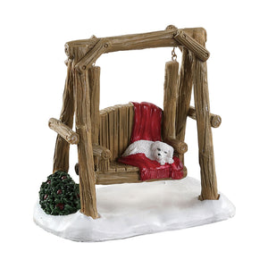Lemax 84363 Rustic Log Swing, Accessory- Gift Spice