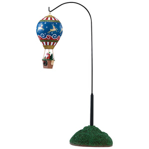 Lemax 84388 Reindeer Hot Air Balloon, Animated Table Piece- Gift Spice