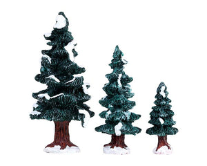 Lemax 84407 Christmas Evergreen Tree, Set of 3, Accessory- Gift Spice