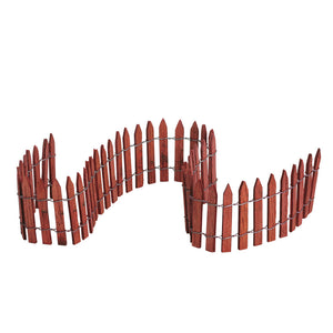 Lemax 84813 Wired Wooden Fence, Accessory- Gift Spice