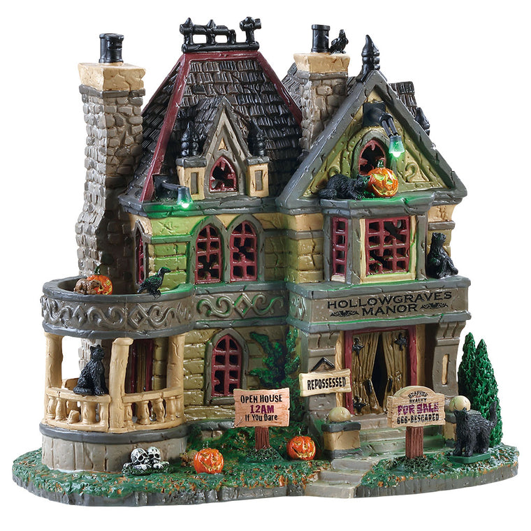 Lemax 85306 Hollowgraves Manor, Standard Lighted Building- Gift Spice