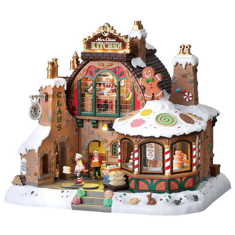 Lemax 85314 Mrs. Claus' Kitchen, Sights and Sound piece- Gift Spice