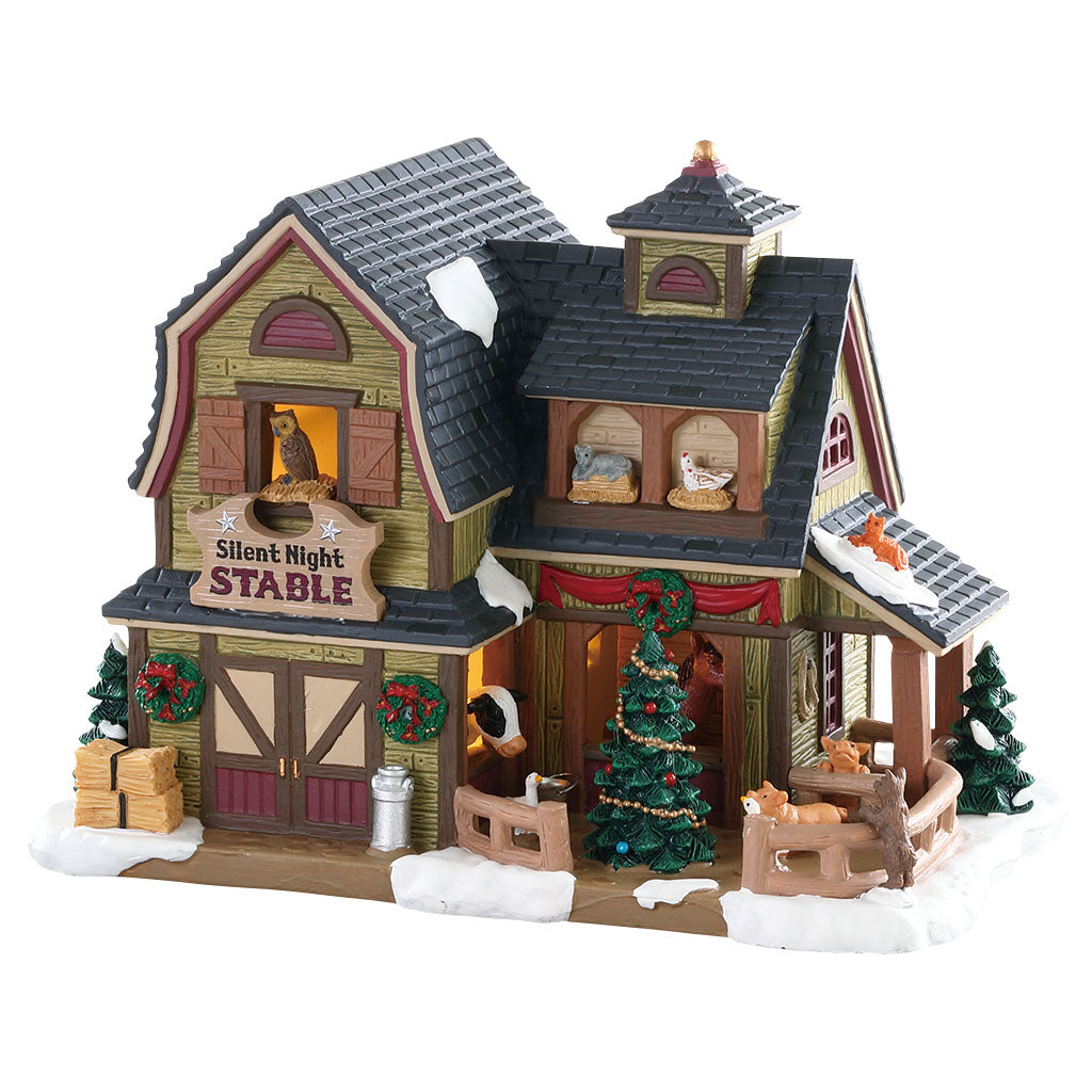 Lemax 85325 Silent Night Stable, Standard Lighted Building- Gift Spice