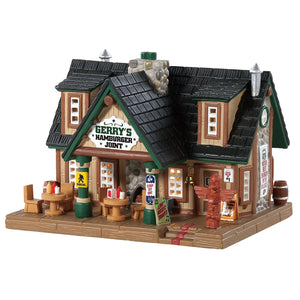 Lemax 85327 Gerry's Hamburger Joint, Standard Lighted Building- Gift Spice