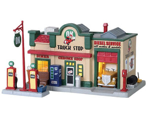 Lemax 85333 Ok Truck Stop, Standard Lighted Building- Gift Spice