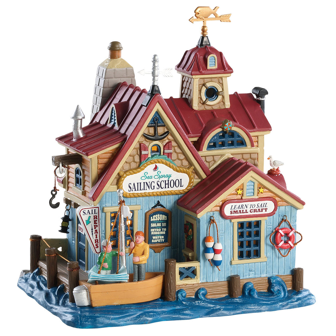 Lemax 85336 Sea Spray Sailing School, Standard Lighted Building- Gift Spice