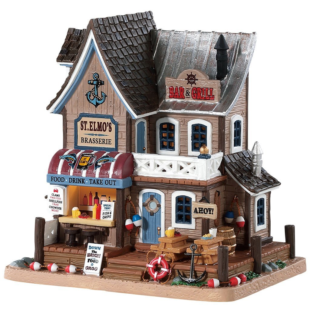 Lemax 85337 St. Elmo's Brasserie, Standard Lighted Building- Gift Spice