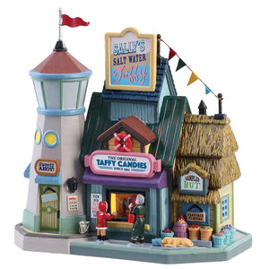 Lemax 85338 Sally's Salt Water Taffy, Standard Lighted Building- Gift Spice