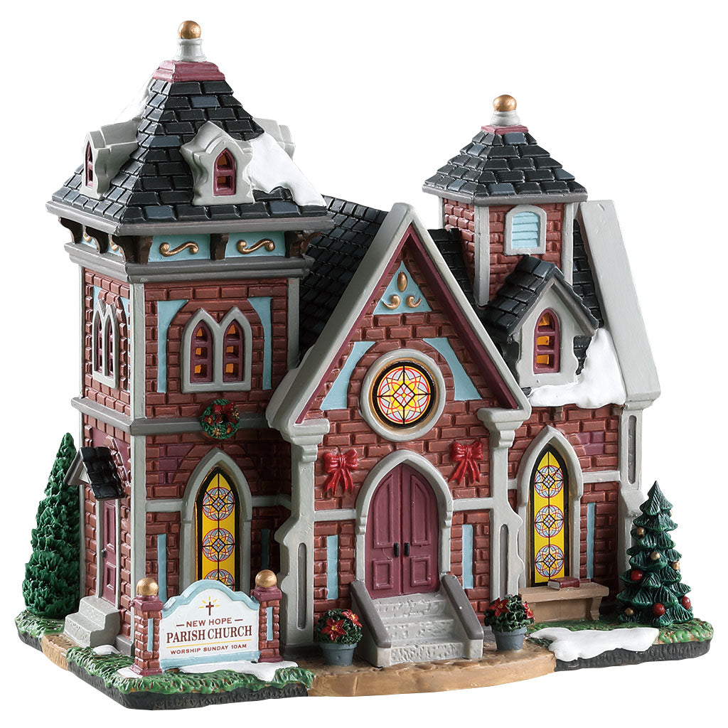 Lemax 85342 New Hope Parish Church, Standard Lighted Building- Gift Spice