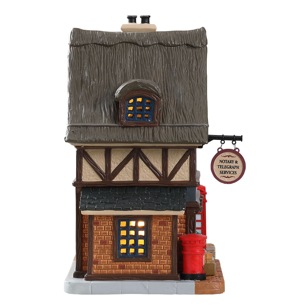 Lemax 85346 Village Post Office, Standard Lighted Building- Gift Spice