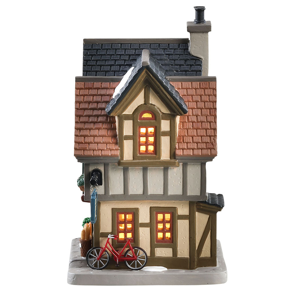 Lemax 85372 The Baguettes And Croissants Shop, Standard Lighted Building- Gift Spice